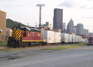 The AVR handles produce for various terminals in Pittsburgh's Strip District.