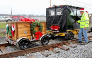 John Gonder of Ruffs Dale, PA has his motorcar and TOY BOX trailer decorated for the annual Toys for Tots ride in Central Pennsylvania in December, 2015.